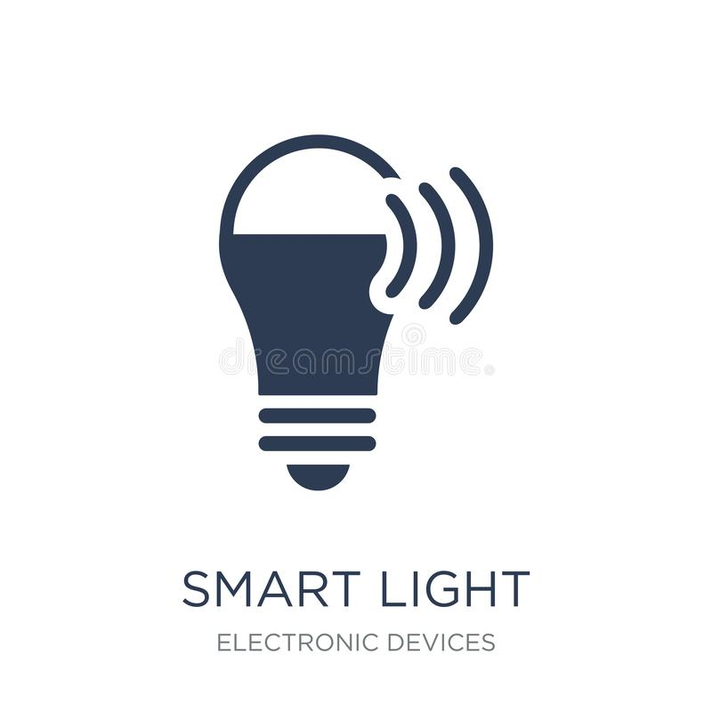 Smart ljus symbol  stock illustrationer