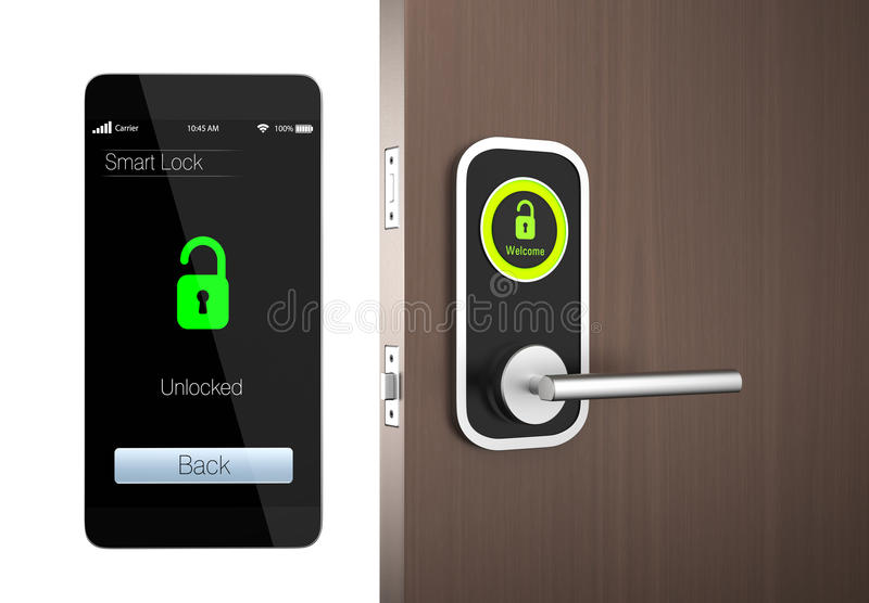 Smart lock concept with clipping path. original design vector illustration