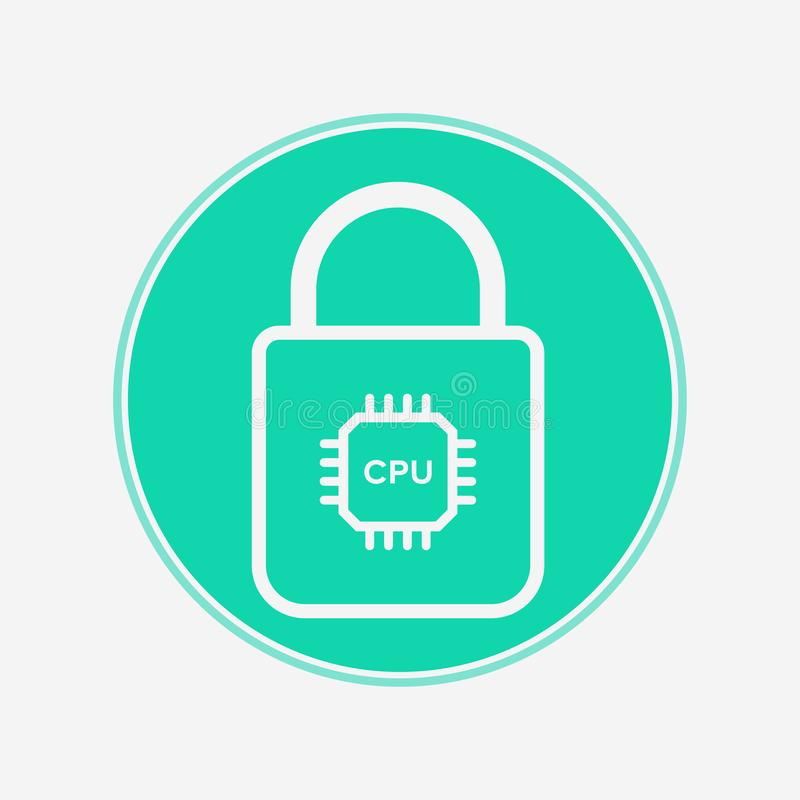 Smart lock vector icon sign symbol stock illustration