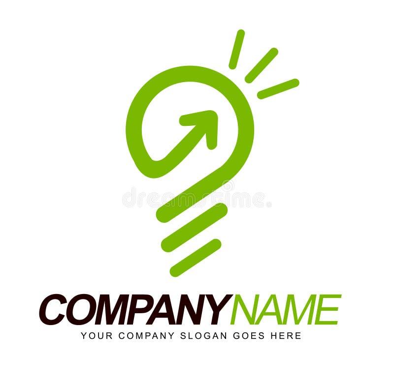 Smart logobegrepp stock illustrationer