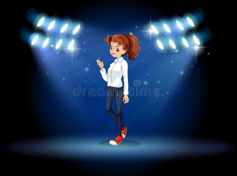 Download A Smart Looking Girl At The Stage Stock Vector - Image: 32710817
