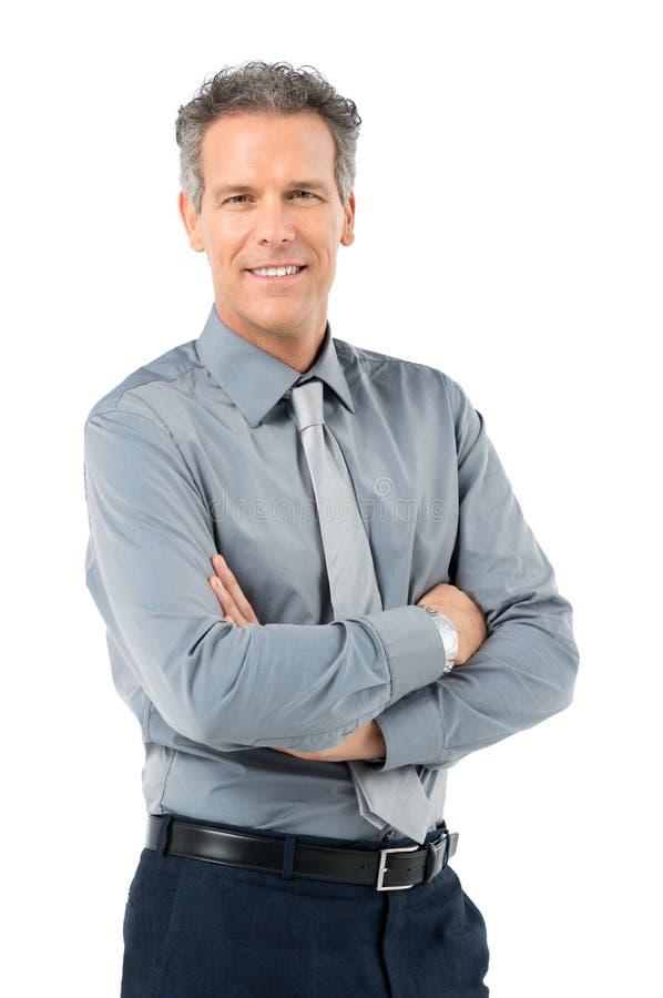 Smart Mature Businessman stock image