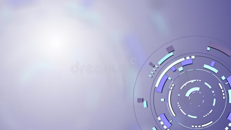Smart media hud background royalty free illustration