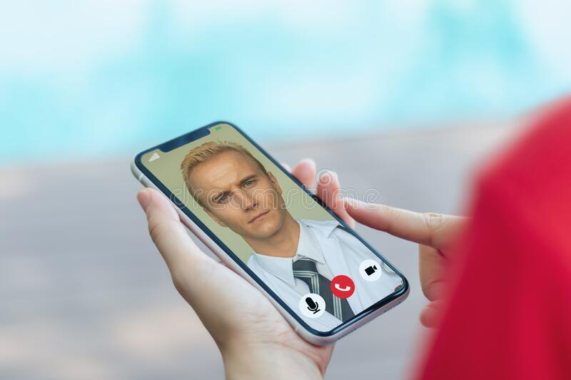 Smart medical concept, the patient contact or talk with doctor telemedicine technology on smart device with combine 5g, machine le royalty free stock photos