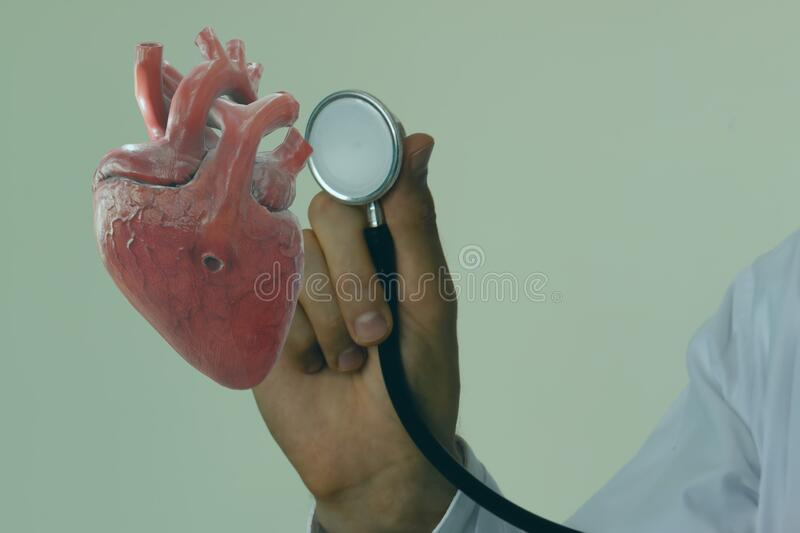 Smart medical technology concept, doctor use augmented reality to show data the injury of heart of the patient while surgery in op stock photos