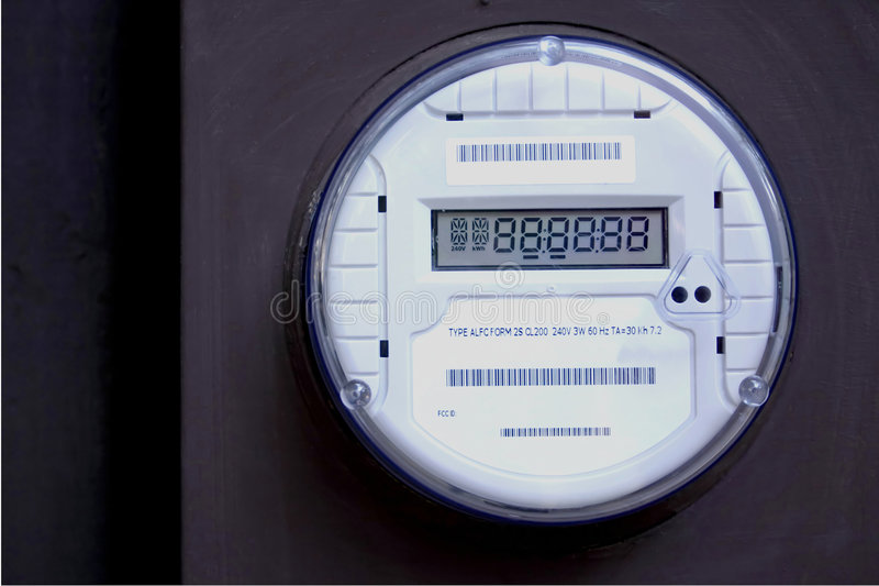 Download Smart Meter 2 stock photo. Image of residential, round - 1000928