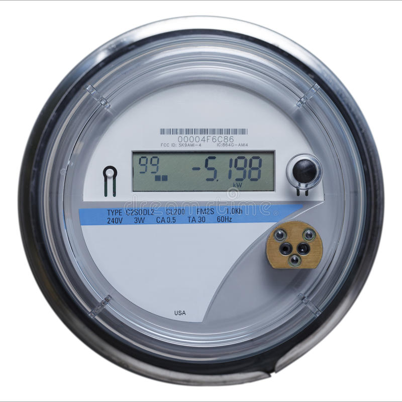 Electric Meter Number : Smart meter stock photo image