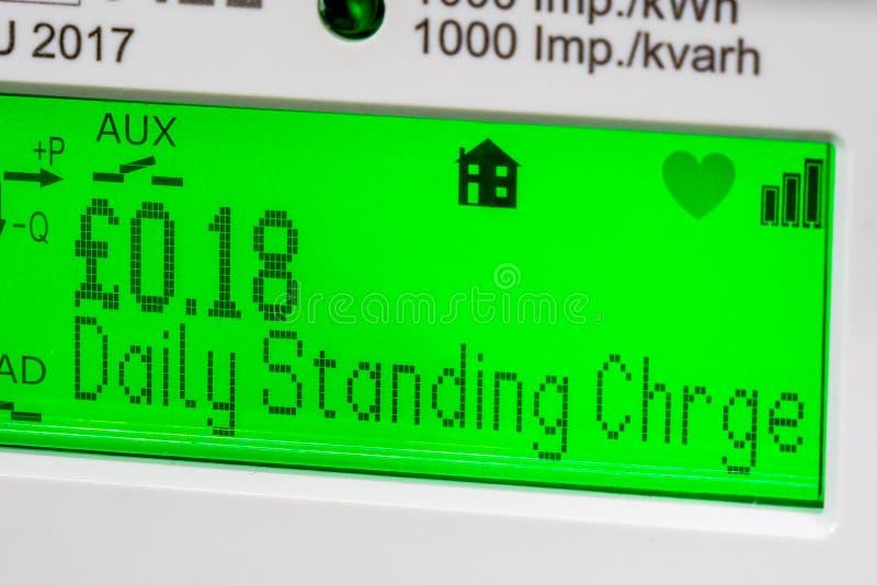 Smart meter digital display royalty free stock images