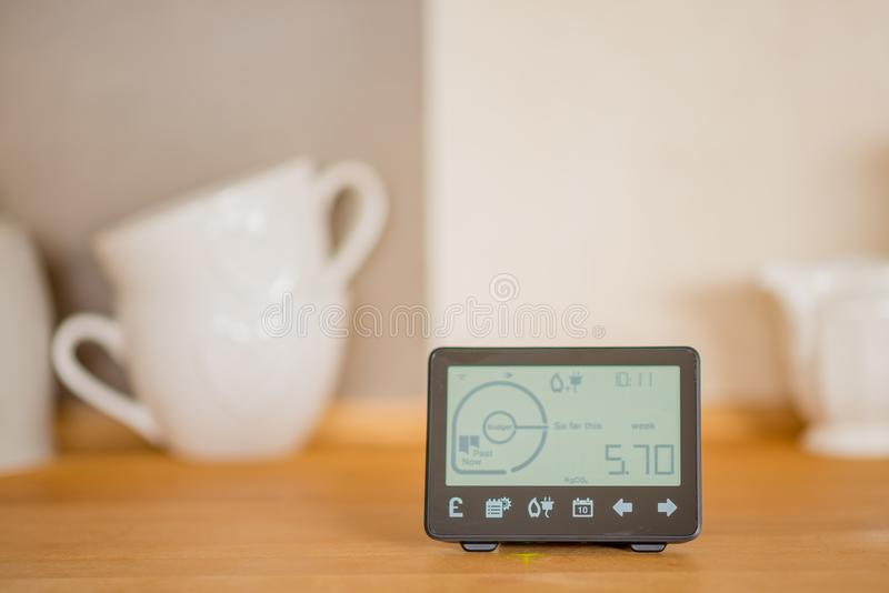 Smart meter in the kitchen stock image