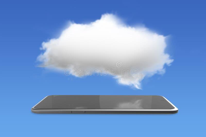 Smart minnestavla med det vita molnet arkivbild