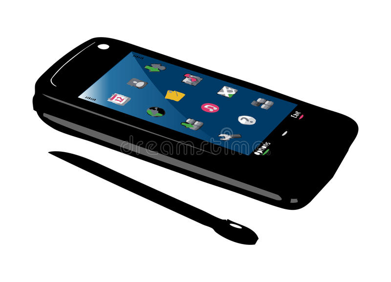 smart mobil telefon vektor illustrationer