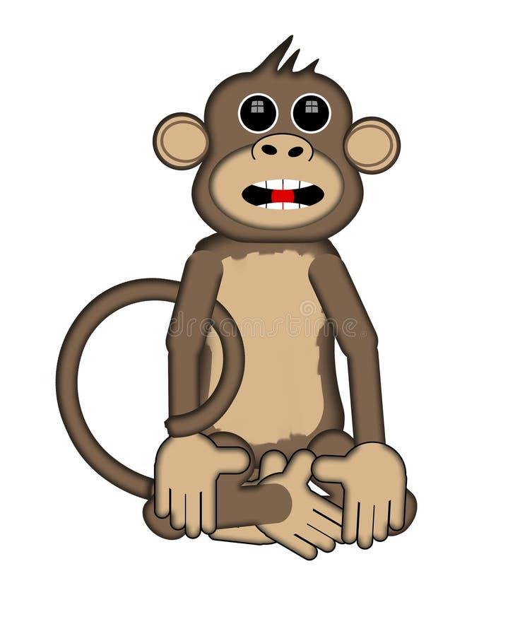 Download Smart Monkey stock illustration. Illustration of cartoon - 25323021