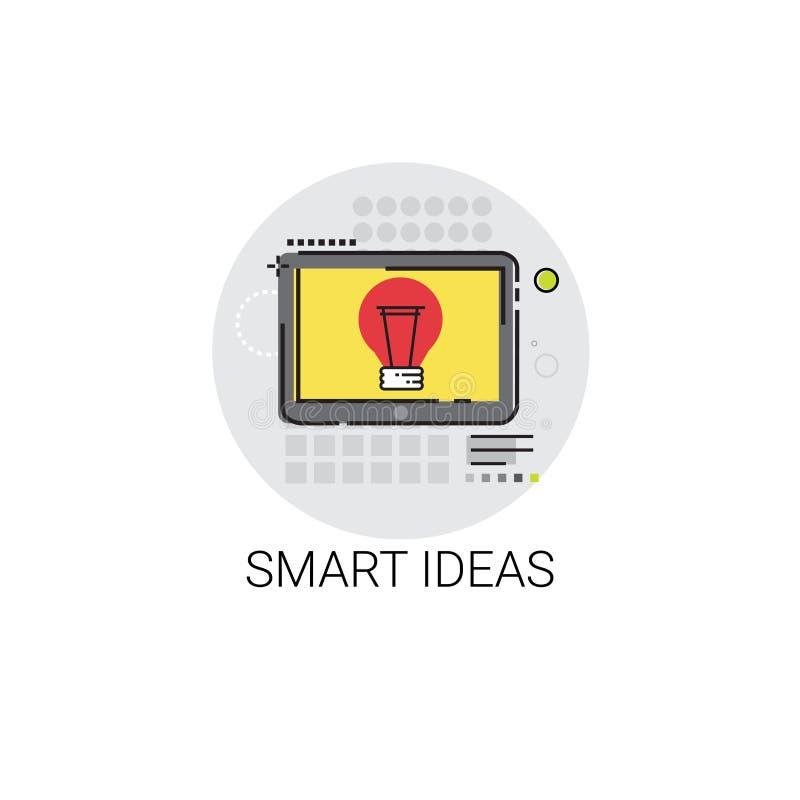 Smart ny idérik symbol för idéaffärsplanläggning vektor illustrationer