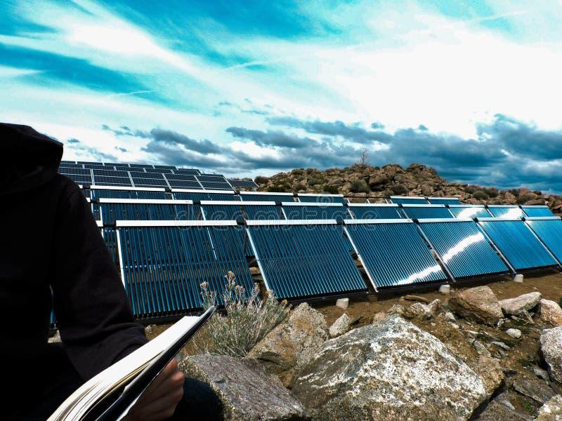 Smart och ren energi royaltyfri bild