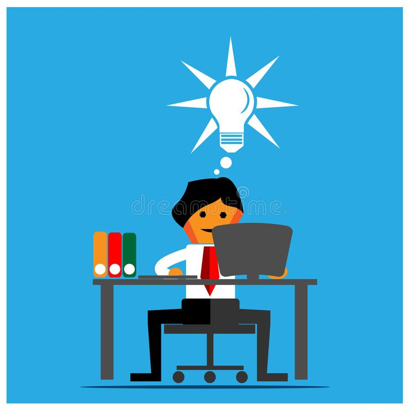 Smart office worker. Flat design. EPS file available. see more images related vector illustration