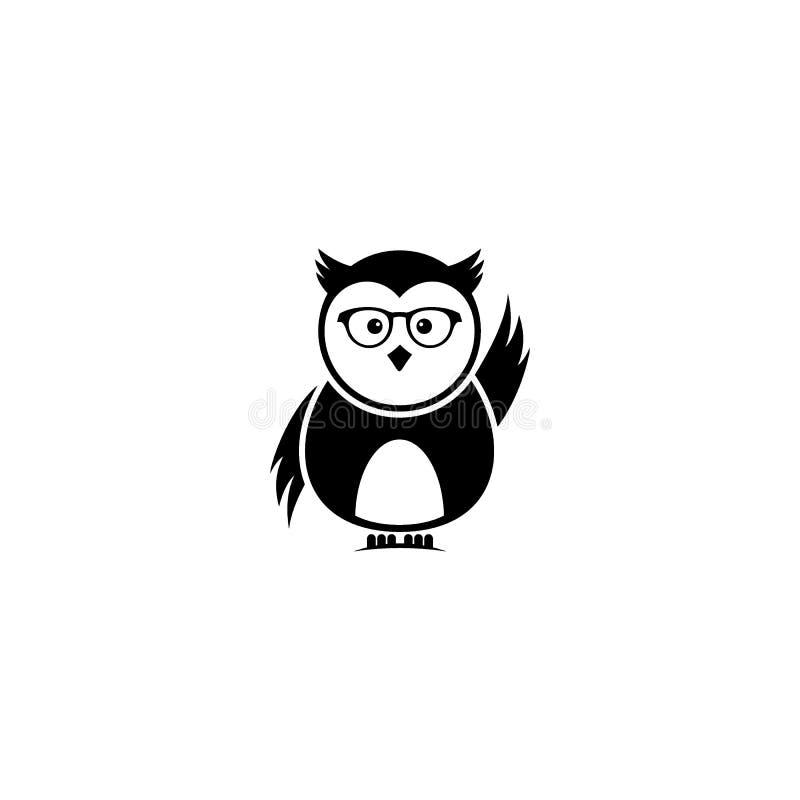 Smart Owl Logo Vetora Design ilustração do vetor