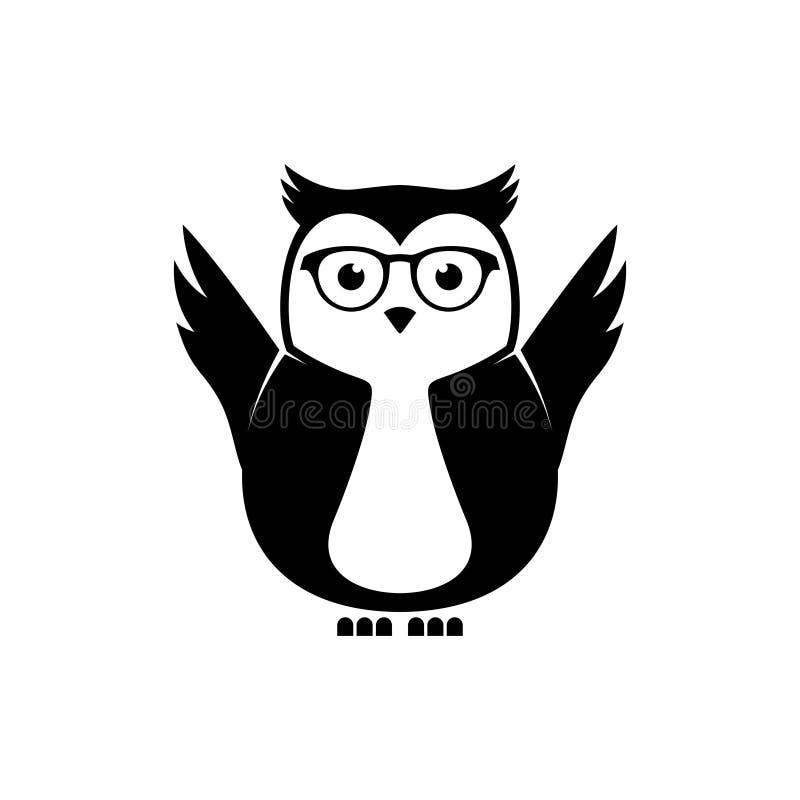 Smart owls vector illustration