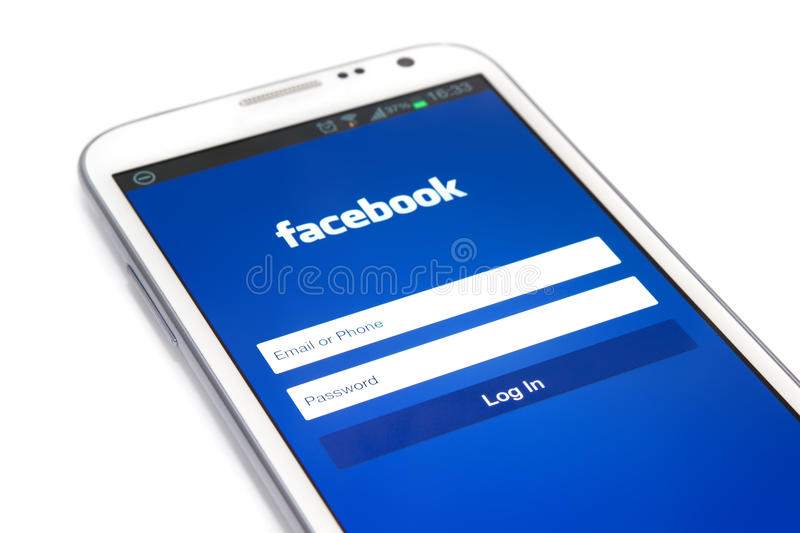 Download Smart Phone editorial stock photo. Image of facebook - 28988658