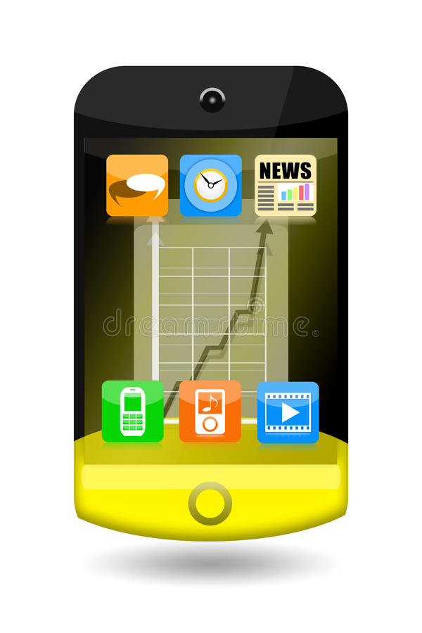 Download Smart phone stock illustration. Image of applications - 28990230