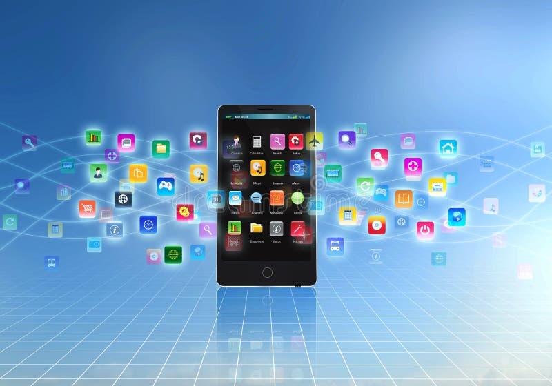 Smart Phone Application stock illustration