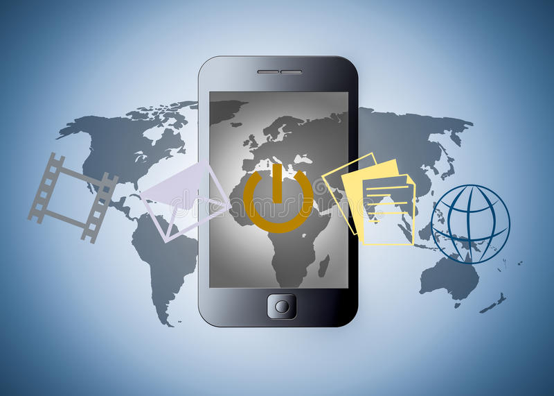 Download Smart Phone With Applications Stock Illustration - Illustration of abstract, cellphone: 26784497
