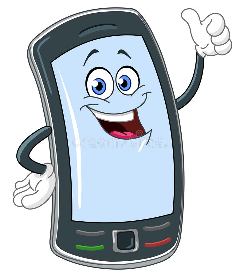Download Smart phone cartoon stock vector. Image of cell, object - 23970162