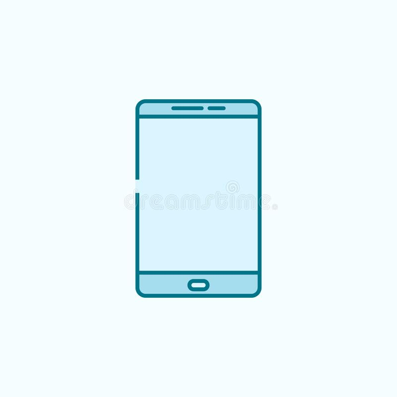 Smart phone 2 colored line icon. Simple colored element illustration. smart phone outline symbol design from web icons set on blue. Background royalty free illustration