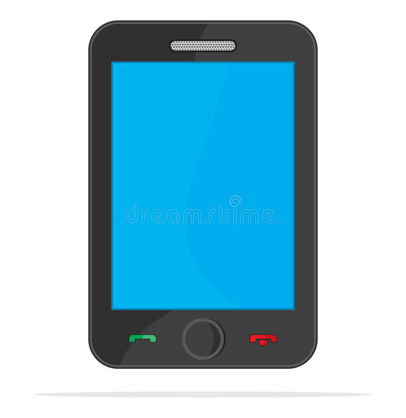 Download Smart phone communication stock vector. Image of share - 31921467