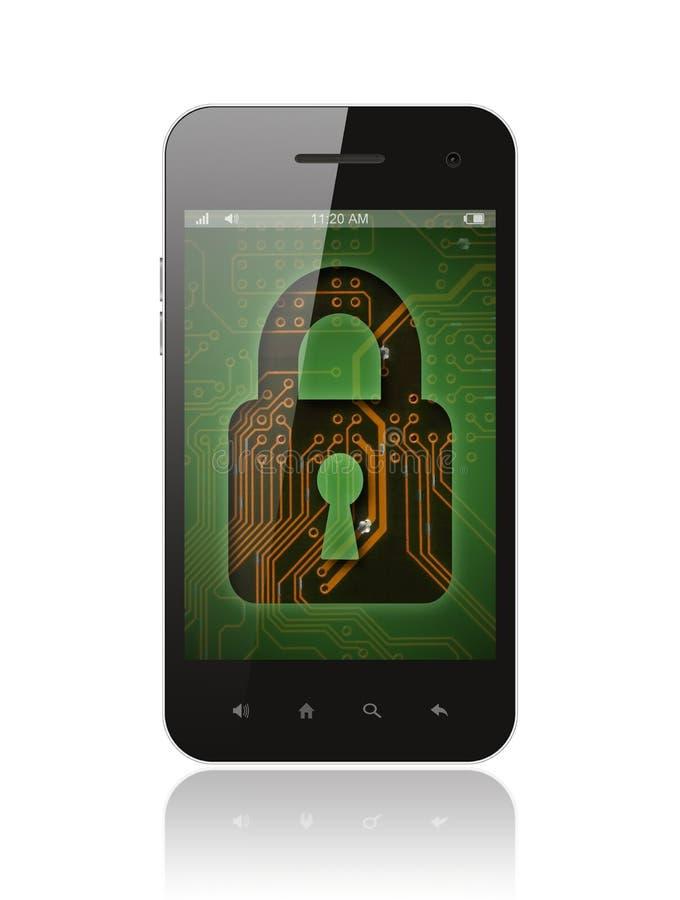 Smart Phone con il fondo del circuito royalty illustrazione gratis