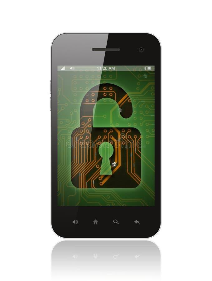 Smart Phone con il fondo del circuito illustrazione vettoriale