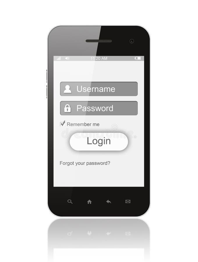 Smart Phone con la scatola di connessione illustrazione di stock