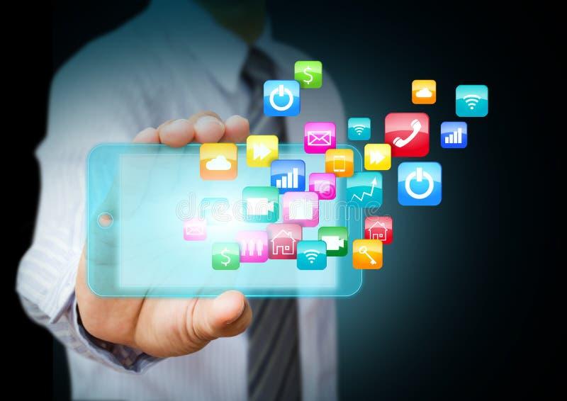 Smart Phone con le icone dell'applicazione immagine stock libera da diritti