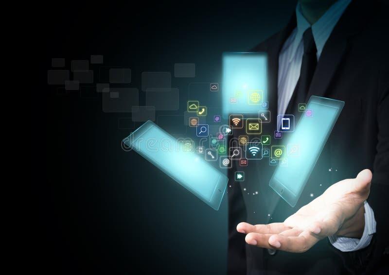 Smart Phone con le icone dell'applicazione illustrazione di stock