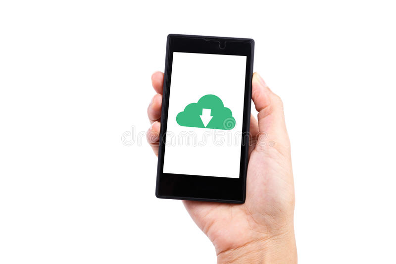 Smart phone Download stock photo