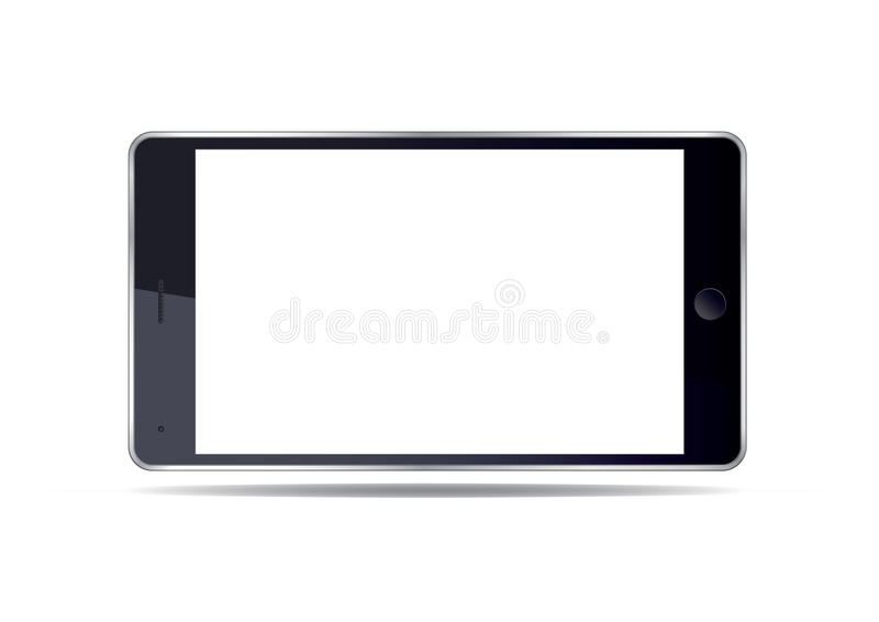 Smart Phone e schermo bianco Illustrazione di vettore royalty illustrazione gratis