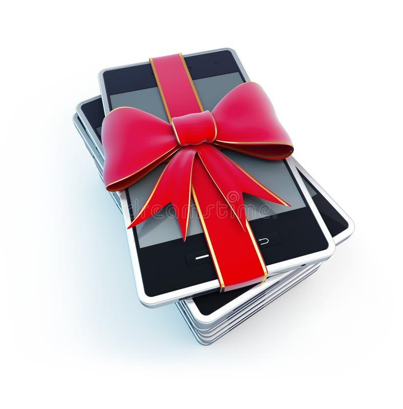 Smart Phone Gift Stock Photo