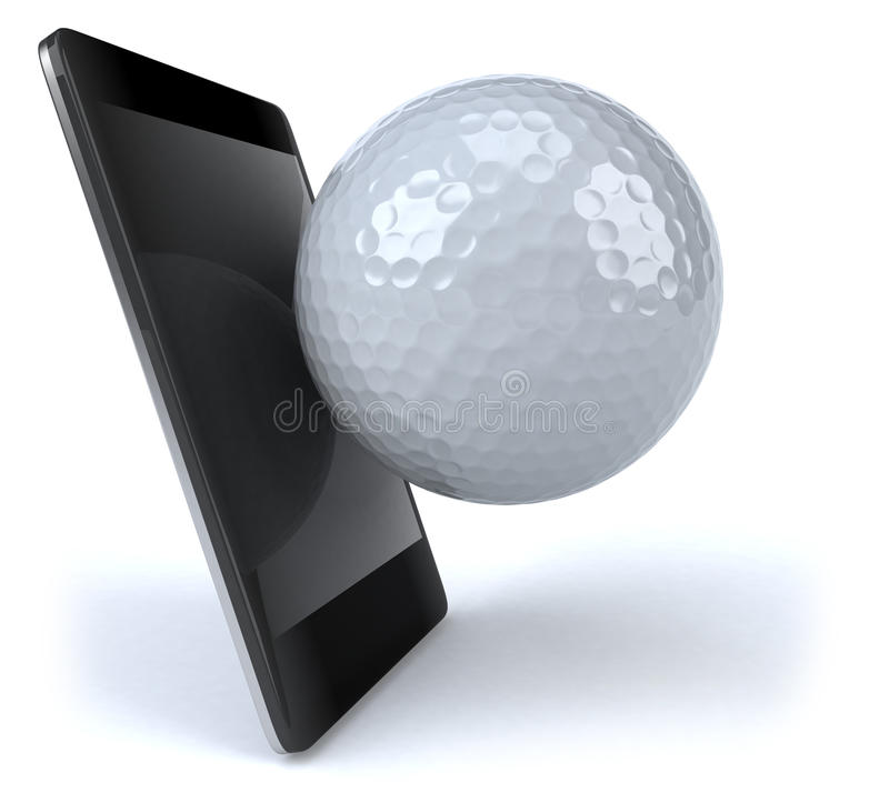 Smart Phone And Golf Stock Image
