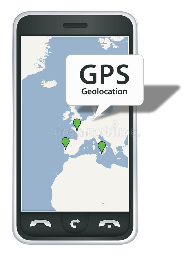 Download Smart phone with GPS stock vector. Image of phone, multimedia - 13027319