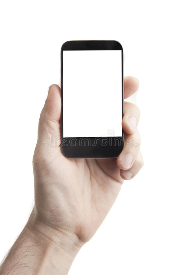 Download Smart Phone in Hand stock image. Image of design, business - 20123209