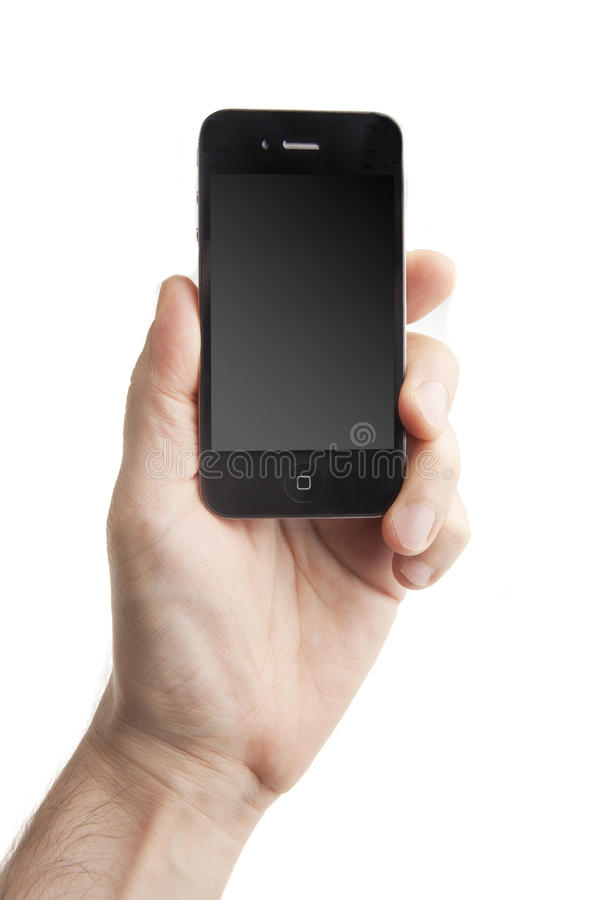 Download Smart Phone in Hand stock photo. Image of cell, hand - 20123228