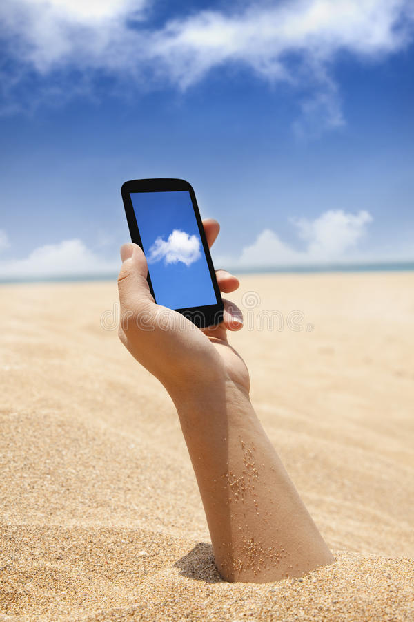 Download Smart phone in hand stock photo. Image of computing, wireless - 24096146