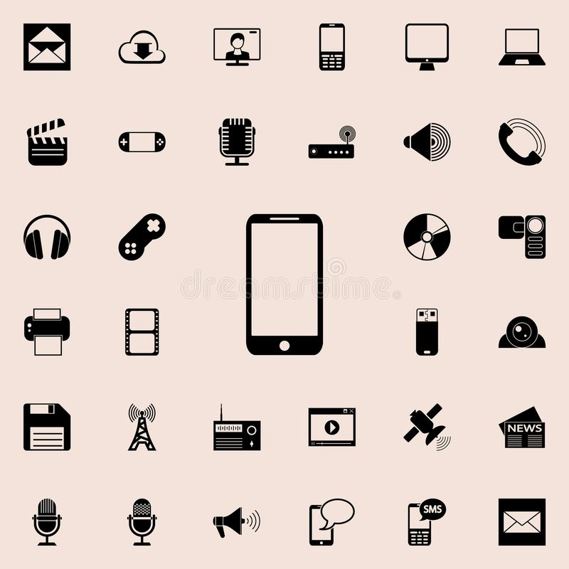 smart phone icon. Detailed set of minimalistic icons. Premium graphic design. One of the collection icons for websites, web design vector illustration
