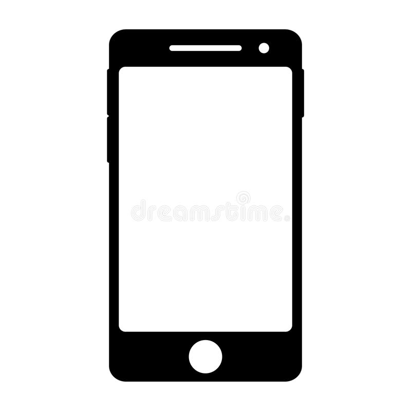 Smart Phone Icon. Vector illustration of a smart phone icon royalty free illustration