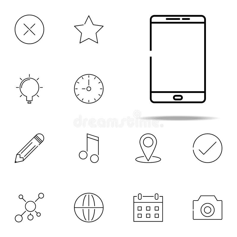 Smart phone icon. web, minimalistic icons universal set for web and mobile. On white background royalty free illustration