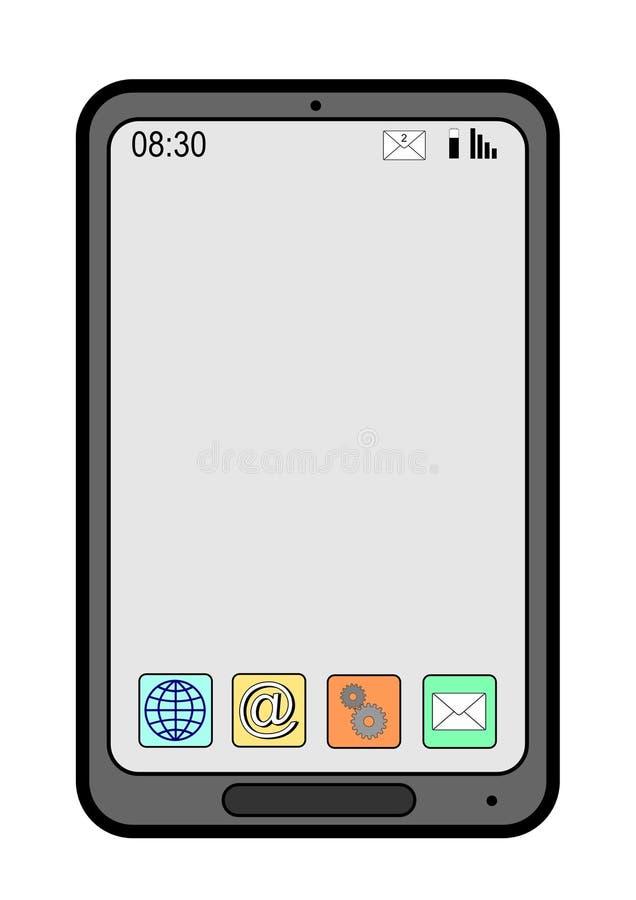 Smart phone stock illustration
