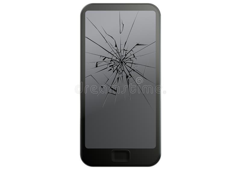 Smart Phone incrinato generico illustrazione di stock