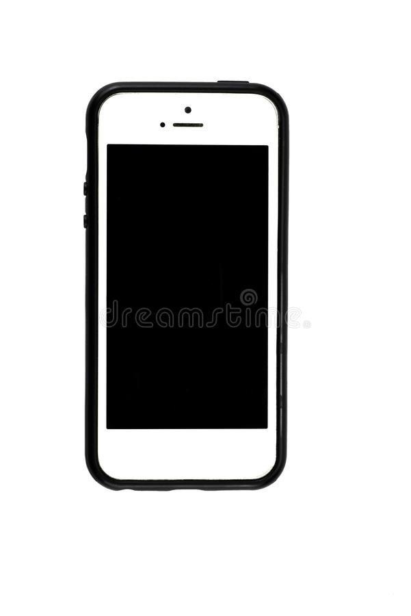 Smart phone on isolated on white background with clipping path stock images