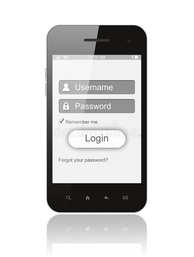 Download Smart Phone With Login Box Royalty Free Stock Image - Image: 35006806