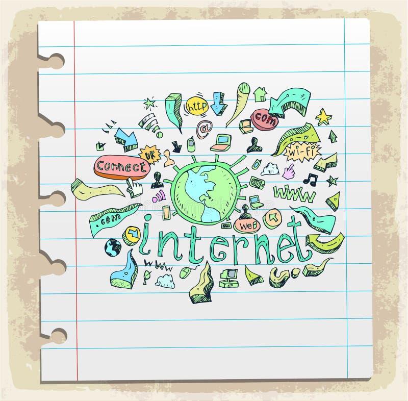 Smart Phone Mobile doodle illustration, vector icon. vector illustration
