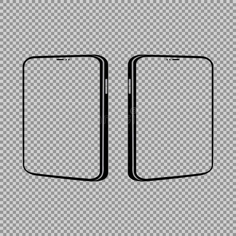 Smart phone mock up product vector illustration. Background design technology stock illustration